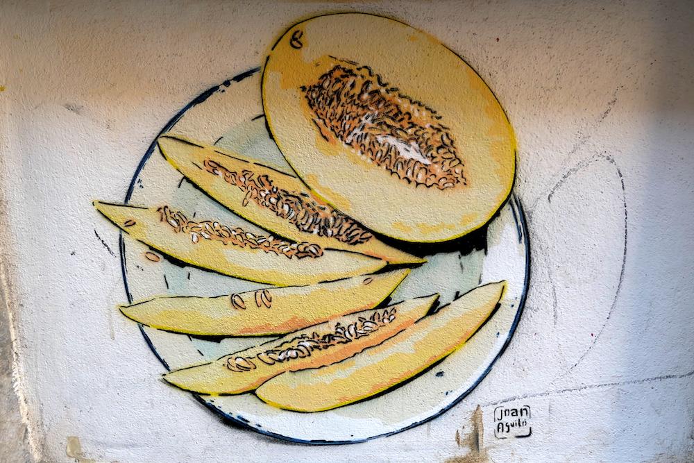 tag melon dans Les petites rues de Palma de Majorque