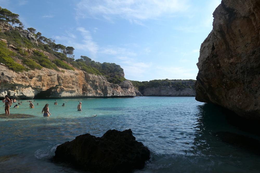 sur la plage de Caló des Moro