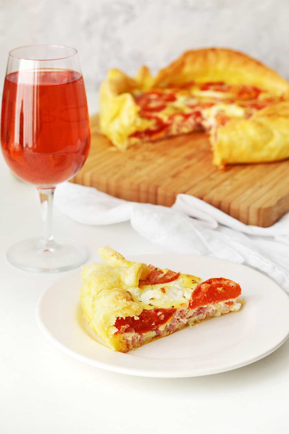 quiche chevre tomate lardon